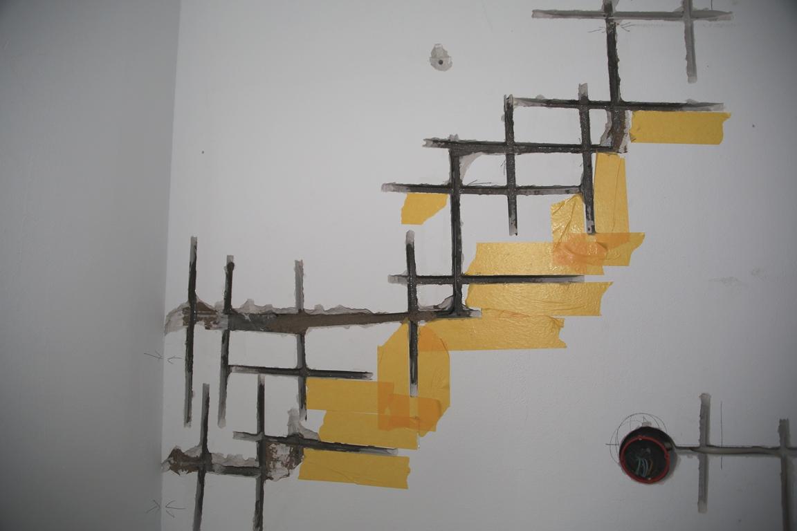riss im mauerwerk beseitigen ich zeige euch wie man ihn beseitigt. Black Bedroom Furniture Sets. Home Design Ideas
