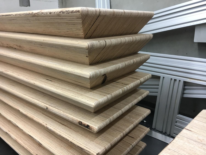 Holzstufen aus Baubuche